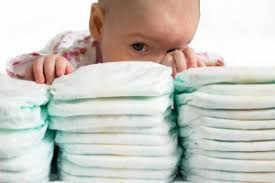 Baby with diapers